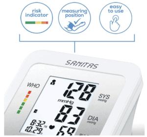 Sanitas SBM 37 Oberarm-Blutdruckmessgerät: Mobil gesund bleiben